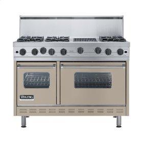 "Taupe 48"" Open Burner Range - VGIC (48"" wide, six burners 12"" wide char-grill)"