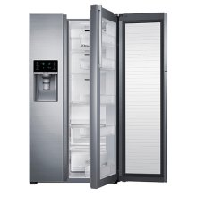 22 cu. ft. Capacity Counter Depth Side-by-Side Food ShowCase Refrigerator (Stainless Steel)