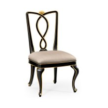 Black Painted Dining Sidechair