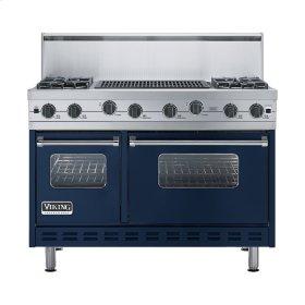 """Viking Blue 48"""" Sealed Burner Range - VGIC (48"""" wide, four burners 24"""" wide char-grill)"""