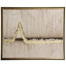 Metallics  Textured Framed Print with Applied Metallic Leafing