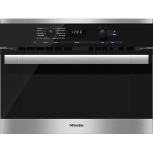 MieleH 6100 BM AM 24 Inch Speed Oven With electronic clock/timer and combination modes for quick, perfect results.
