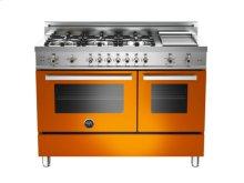 Orange 48 6-Burner, Gas Double Oven