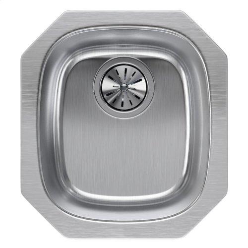 "Elkay Lustertone Classic Stainless Steel, 14-1/4"" x 15-3/4"" x 5-15/16"", Single Bowl Undermount Sink"