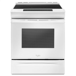 4.8 cu. ft. Guided Electric Front Control Range With The Easy-Wipe Ceramic Glass Cooktop - WHITE