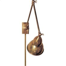 Visual Comfort S2602HAB Studio French Library 31 inch 50 watt Hand-Rubbed Antique Brass Task Wall Light