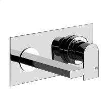 """TRIM PARTS ONLY Wall-mounted washbasin mixer trim Spout projection 5-1/2"""" Drain not included - See DRAINS section Requires in-wall rough valve 26697 Max flow rate 1"""
