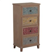 Molly Driftwood and Colored Tall Cabinet Product Image