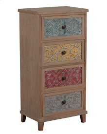 Molly Driftwood and Colored Tall Cabinet