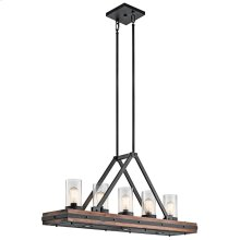 Colerne Collection Colerne 5 Light Linear Chandelier - AUB AUB