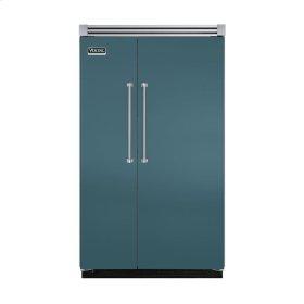 "Iridescent Blue 48"" Quiet Cool™ Side-by-Side Refrigerator/Freezer - VISB Tru-Flush™ (48"" wide)"