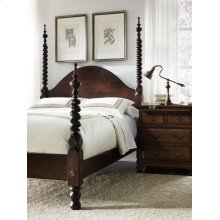 Barley Twist Four Poster w/ Shortened Foot Posts