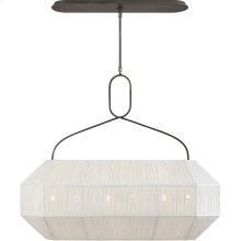 Visual Comfort KW5317BZ-L Kelly Wearstler Forza 6 Light 40 inch Bronze Linear Lantern Ceiling Light, Medium Gathered