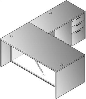 """L-shape W/glass Modesty Panel 71"""" X 84"""""""