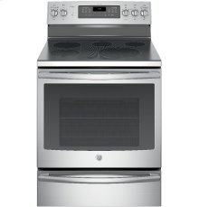 "CLOSEOUT - GE Profile™ Series 30"" Free-Standing Electric Convection Range with Warming Drawer"