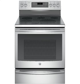 """CLOSEOUT - GE Profile™ Series 30"""" Free-Standing Electric Convection Range with Warming Drawer"""
