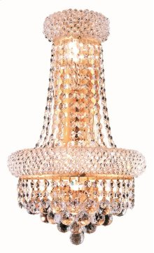 1800 Primo Collection Wall Sconce with Neck Gold Finish