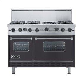 "Graphite Gray 48"" Open Burner Range - VGIC (48"" wide, six burners 12"" wide char-grill)"