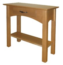 Petite End Table with Drawer and Shelf