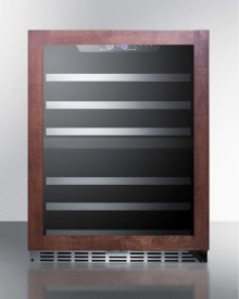 Dual Zone 44-bottle Built-in Wine Cellar With Glass Door With Panel-ready Frame, Full Extension Shelves, Digital Thermostat, and Black Cabinet