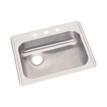 "Dayton Stainless Steel 25"" x 22"" x 5-3/8"", Single Bowl Drop-in Sink"