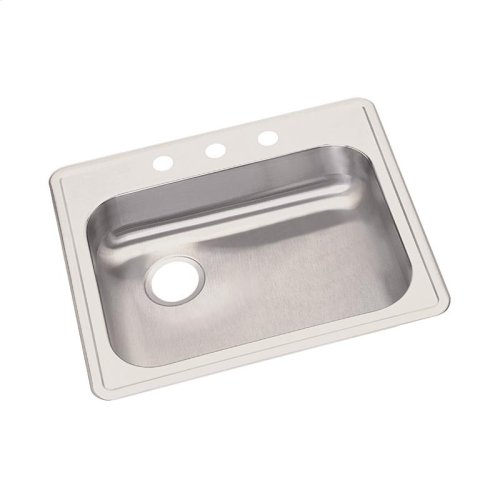 "Dayton Stainless Steel 25"" x 22"" x 5-3/8"", Single Bowl Drop-in Sink"