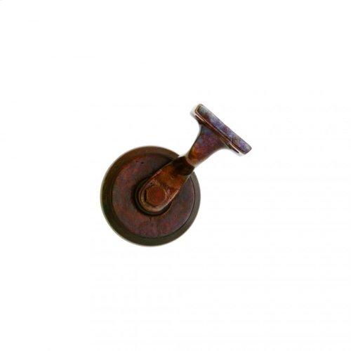 Round Handrail Bracket White Bronze Dark