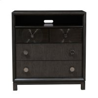 Lustrous 3 Drawer Media Accent Chest in Silver Grey Product Image