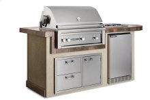 """Contemporary Gray 36"""" Deluxe Island Package, NG"""