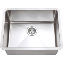 "Stainless Steel (16 Gauge) Fabricated Kitchen Sink. 304 SS with Satin Finish. Overall Measurements: 23"" x 18"" x 10"""