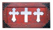 3 Red Mirror Crosses Product Image