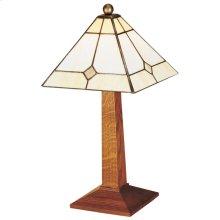 Art Glass Shade Small Lamp