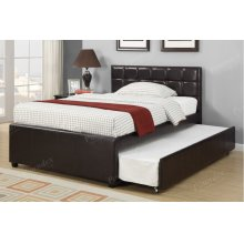 Espresso Twin Size Bed with Twin Size Trundle