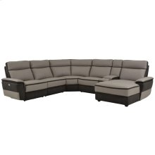 6-Piece Modular Power Reclining Sectional with Right Chaise