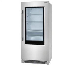19 Cu. Ft. Glass Door Single-Door Refrigerator