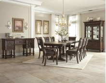 Palencia Dining Room Group: Table, 4 Side Chairs, 2 Arm Chairs & Hutch