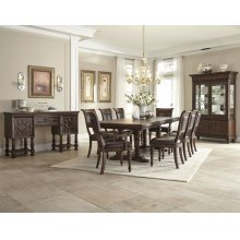 Palencia Dining Room Set: Table, 4 Side Chairs, 2 Arm Chairs & Hutch