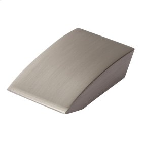Angled Drop Knob 15/16 Inch - Brushed Nickel