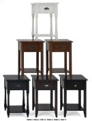 Chairside Table W/picture Framed Top and Black Mission Hardware Product Image