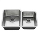 American Standard Undermount 31x20 Offset Double Bowl Sink - Stainless Steel Product Image