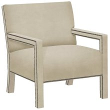 Shelby Leather Chair in #44 Antique Nickel