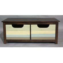 """#587 Plank Coffee Table 48""""wx56""""dx20""""h"""