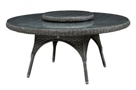 "LORCA 67"" TABLE BASE W/LAZY SUSAN"