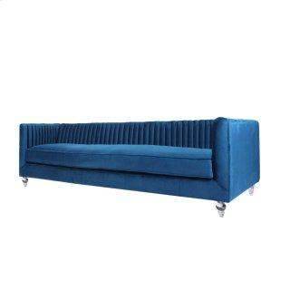 Trevon KD Fabric Sofa Chair Acrylic legs, Loyal Blue
