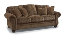 Bexley Two-Tone Fabric Sofa with Nailhead Trim