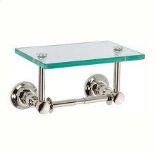 Polished Nickel Double Post Toilet Tissue Holder with Cover