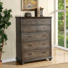 Belmeade - Five Drawer Chest - Old World Oak Finish