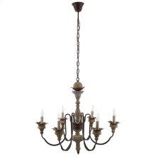 Bountiful Vintage French Pendant Ceiling Light Candelabra Chandelier in