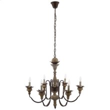 Bountiful Vintage French Pendant Ceiling Light Candelabra Chandelier
