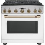 "CAFE APPLIANCESCaf(eback) 36"" All-Gas Professional Range with 6 Burners (Natural Gas)"